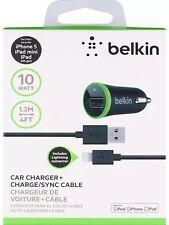 Usb Belkin 2.1A chargeur voiture avec belkin câble usb pour iPhone 5, 5s, 5c,6, 6 plus