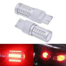 2x T20 6500K Red 7440 7443 5630 33SMD LED Car Backup Reverse Lights Bulb