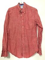 Brooks Brothers 346 Mens Long Sleeve Button Down Dress Shirt Red Size Medium