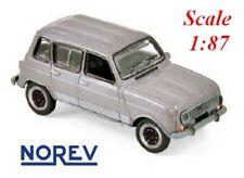 Renault 4L GTL berline 5 portes 1987 gris métallisé  - NOREV - Echelle 1/87 - Ho