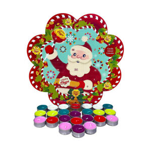 Chupa chups candle advent calendar with 23 tealight and 1 tealight candle holder