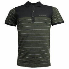 Camicie casual e maglie da uomo verde a righe