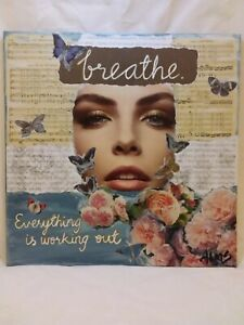 Original Mixed media Collage Art with Affirmations