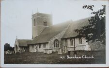 1915 Beenham, West Berkshire, England Realphoto Postcard - Church
