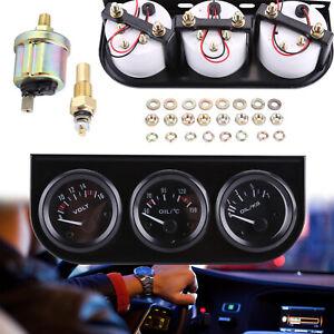 Zusatz Instrumente Öldruck Voltmeter Zusatzanzeige Öltemperatur 52mm DC 12V DE