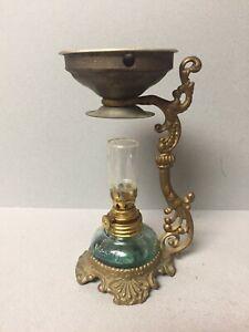 Vintage Oil Kerosene Lamp Incense Burner 6.25 Inches Tall