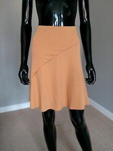 Emporio Armani designer gold beige A-line skirt sz. 42IT/10UK