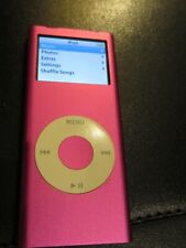 Apple iPod Nano 4GB A1199 Music Player MP3 PINK Good Battery Free Ship + Music!