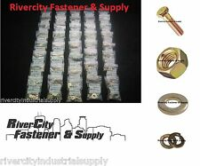 Grade 8 Bolt Assortment With Nuts & Washers 1/4-20 5/16-18 3/8-16 7/16-14 1/2-13