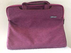 "BRINCH 16""X 12 in Purple Pink  Laptop Sleeve Double Handle Bag Soft Nylon"