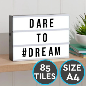 Lightbox 85 Characters + Letters Bedroom Living Room Light Up Sign Box Cinematic