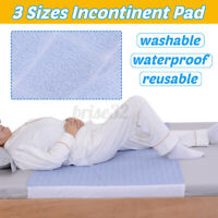Washable Reusable Waterproof Underpad Bed Pad Incontinence Mattress Protecto