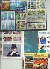 SAN  MARINO  -  MNH**  ANNATA  2001  30  VALORI   4  FOGLIETTI    NUOVA