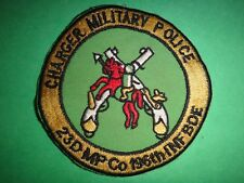 US 23rd MILITARY POLICE Company 199th INFANTRY Brigade Patch From Vietnam War