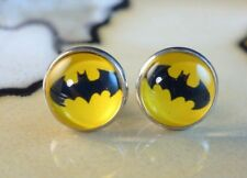 BATMAN retro superhero 12mm silver stud earrings gifts for women