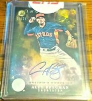 2016 Bowman Inception Alex Bregman Autograph Factory Rookie AUTO RC GOLD 17/25!