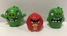 Angry Birds Pig Island Smashdown Game Replacement Parts 2 PIGS & RED BIRD Figure