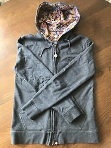 Pretty Green Grey And Paisley Hoodie Mens Small