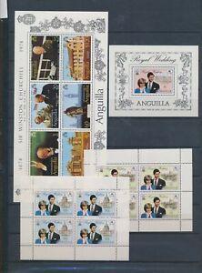 XC88926 Anguilla Churchill Charles & Diana wedding sheets XXL MNH