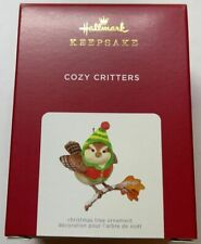 Hallmark 2021 Cozy Critters Christmas Ornament New with Box