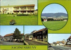 Postale Ak Pk Sachsenbrunn Multi-Images Photographie Vue de la Ville Pris 1984