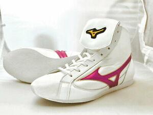Mizuno Boxing Shoes Short type White × Metal rose Made in JAPAN BTO F/S JPN NEW