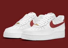 Nike Air Force 1 '07 White Team Red CZ0326-100 Men's Shoes NEW