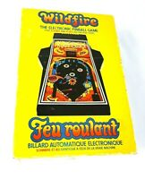 Vintage Wildfire The Electronic Pinball Game Parker Brothers