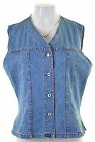 GENERAL COMPANY Womens Denim Shirt Sleeveless Size 18 XL Blue Cotton Vintage