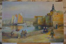 Koudriavtzeff - Petit port de Bretagne - Peinture sur bois