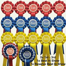 5 sets of 1st - 3rd Rosettes 1 Tier  & Best In Show - Res Best In Show