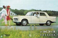 PEUGEOT 404 GT Limousine Deutschland Prospekt Brochure 1966 83