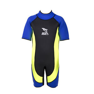 IST Kids 3mm Shorty with Comfort Extra Stretch Panels Swim Dive Snorkel