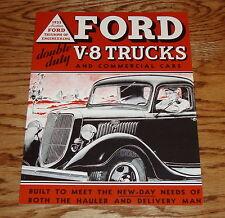 1935 Ford V-8 Truck & Commercial Car Sales Brochure 35 Pickup Panel Sedan