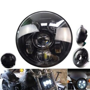 "For 883 Dyna Street Bob FXDB Motorcycle 5.75"" 5 3/4"" LED Projection Headlight"
