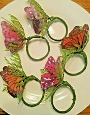 5 Beautiful Butterfly Napkin Rings Holders