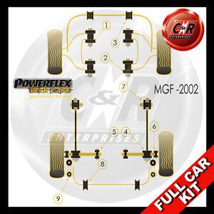 Fits MG MGF (to 02) Powerflex Black Complete Bush Kit