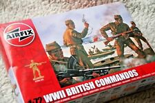 AIRFIX WWII BRITISH COMMANDOS MODEL KIT (FIGURES). 1:72, 40 PIECES. NEW IN BOX!