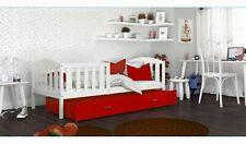 Kinderbett 190x80 Matratze+Schublade+Lattenrost Rot NEU