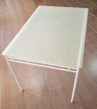 Good Condition Ikea Lyrestad - Table, White, Frosted Glass