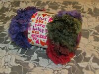 NEW LION THAT '70s YARN Right On Purple and Green Acrylic Poly 100 g Turkey G G