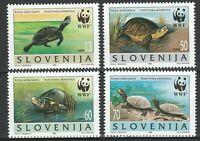 Slovenia 1996 WWF Turtles 4 MNH stamps