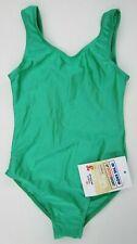Girls Roch Valley Joanne Sleeveless Leotard Dance Gym Ballet Shiny Green Size 0