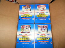 LOT OF (4) 1990 SCORE HOCKEY BOXES FROM CASE BRODEUR ROOKIES 36 PACKS PER BOX
