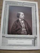 Louis BLANC cliché photoglyptie de CARJAT Galerie Contemporaine 1880