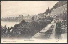 Switzerland Postcard Territet Montreux Station Train Ambulant
