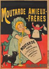 Moutarde Amieux-Frères, 1896, France, Vintage Grocery and Confectionery Poster
