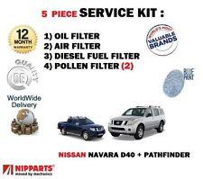 Per Nissan Navara + Pathfinder d40 2.5 2006 - > Olio Aria Carburante Polline 5 KIT FILTRO