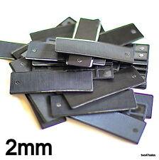 50 x 2 mm piatto doppi vetri vetro Packers Distanziatore Finestra Porta Telaio Shim CUCINA