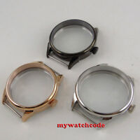 42mm 316L stainless steel portuguese Watch CASE fit eat 6498 6497 movement